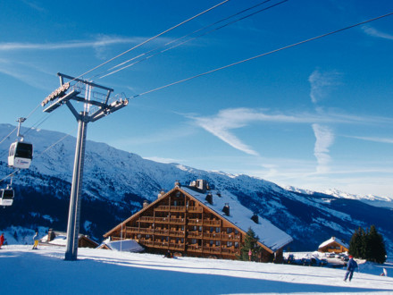 Club Med Méribel le Chalet family ski vacation ski lift winter wonderland