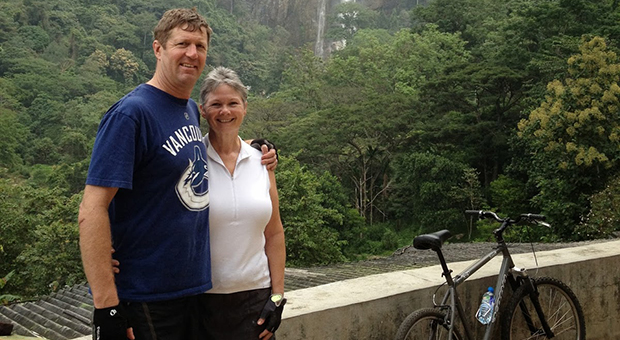 Bruce and Wendy in Sri Lanka