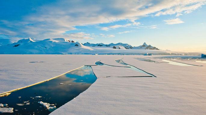 Antarctica Cutting Ice