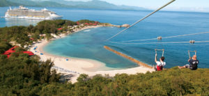 Cruising with Lloyds Travel & cruises Royal Caribbean Labadee Dragon's Breath
