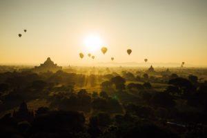 began hot air balloon